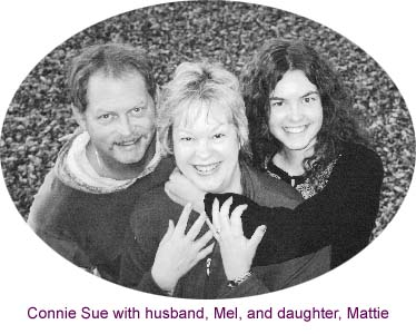 Connie Sue with husband, Mel, and daughter, Mattie